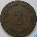 German Empire 2 pfennig 1875 (J)