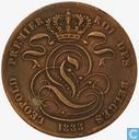 Belgique 5 centimes 1833