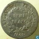 Frankrijk ½ franc 1808 (D)
