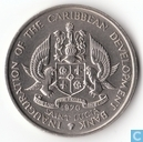 "Saint Lucia 4 dollars 1970 ""F.A.O. - Inauguration of the Caribbean Development Bank"""