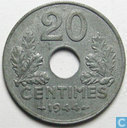 Frankrijk 20 centimes 1944 (Zink)