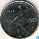 Italy 50 lire 1954