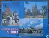 3 Steden Kayserberg, Praag en Barcelona Puzzel