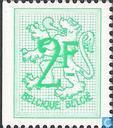 Postage Stamps - Belgium [BEL] - Digit on heraldic lion