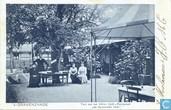 """'s-Gravenzande Tuin van het Hôtel, Café-Restaurant """"de Spaansche vloot"""""""