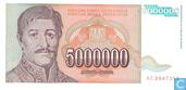5 Million Dinara Yugoslavia