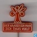 Oranjeboom bier waarbij een man zich thuis voelt