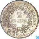 Frankreich 2 Franc AN 14 (A)