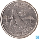 "United States ¼ dollar 2001 (P) ""Rhode Island"""