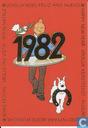 Wenskaart '1982' zegel Maxcard Kuifje