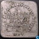 """België 1 broodkaart 1880 """"Dendermonde"""" (vierkant)"""