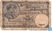Belgium 5 Francs