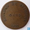 België 5 centimes 1833 Monnaie Fictive, Gent