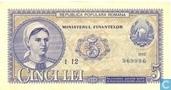 Roumanie 5 Lei 1952