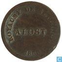 België 1 centime 1833 Monnaie Fictive, Aalst