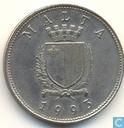 Malta 25 Cents 1993