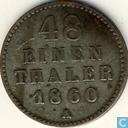Mecklembourg-Schwerin 1/48 thaler 1860
