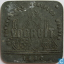 België 1 broodkaart 1880 (zink)