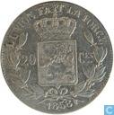 Belgium 20 centimes 1858