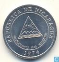 """Nicaragua 5 centavos 1974 """"F.A.O."""""""