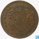 Belgium 2 centimes 1835 (wide rims)