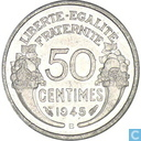 France 50 centimes 1945 (B)