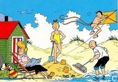 Suske en Wiske aan het strand