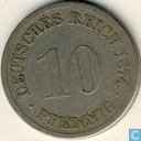 German Empire 10 pfennig 1874 (H)
