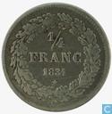 Belgium 1/4 frank 1834