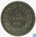 België 1/4 frank 1834