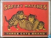 Safety Matches Three Cats Brand