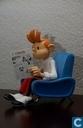 Spirou in seinem Stuhl