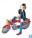 Lucien à moto