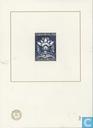 Blauwdruk met afbeelding brandkastzegel