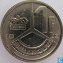 Coins - Belgium - Belgium 1 franc 1989 (FRA)