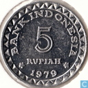 "Indonesia 5 rupiah 1979 ""F.A.O. - Family planning program"""