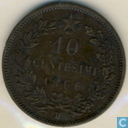 Italy 10 centesimi 1866 (H)