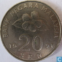 Maleisië 20 sen 1991