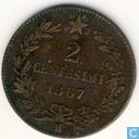 Italy 2 centesimi 1867 (M)