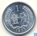 China 1 fen 1977