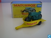 Model cars - Matchbox - Honda Motorcycle and Trailer
