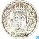 Frankrijk ½ franc 1830 (K)