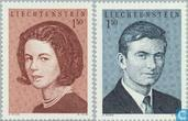 1967 Hereditary Prince Hans Adam and Countess Marie Kinsky Aglae Marriage (LIE 142)