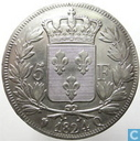 France 5 francs 1824 (Q)