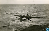 Grumman S-2A Tracker in de start vanaf vliegdekschip Karel Doorman