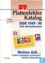 Plattenfehler Katalog DDR 1949-1990