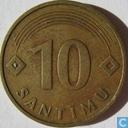 Monnaies - Lettonie - Lettonie 10 santimu 1992