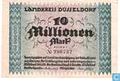 Dusseldorf 10 Million Mark en 1923