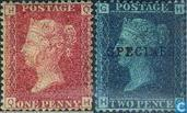 1858 Queen Victoria Four letters (GRB 8)
