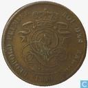 Belgium 2 centimes 1844